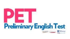 Logo del examen de inglés PET
