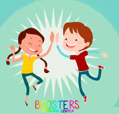 Dibujo de dos alumnos de la academia booster learning center