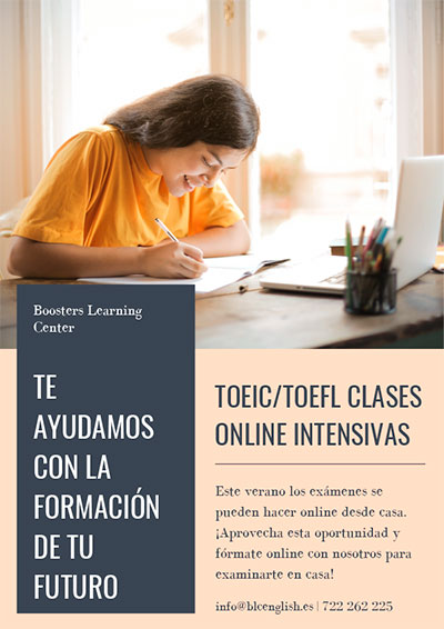 Preparación exámenes TOEIC y TOELF en Booster Learning Center